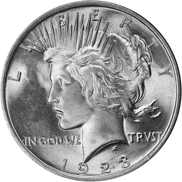 Image result for 1923 us silver dollar