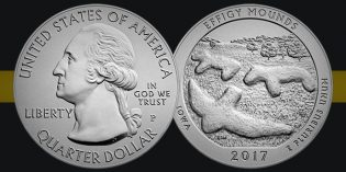 Effigy Mounds America the Beautiful Uncirculated 5 Ounce Silver Coin Available March 7
