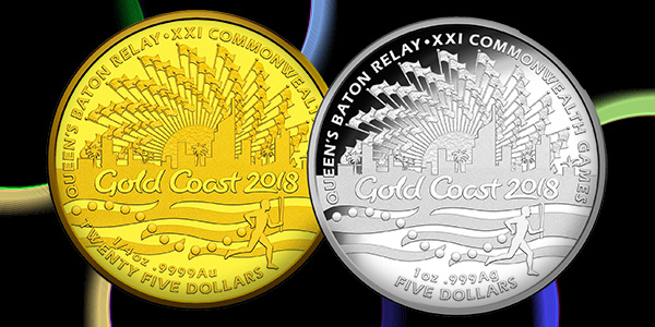 Gold Coast 2018 Gold and Silver Coins, Australia