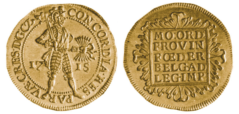 Gelderland 1715 double ducat. Images courtesy Norwegian Museum