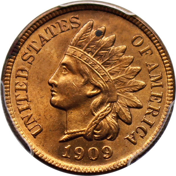 United States 1909-S Indian Head cent. Image courtesy David Lawrence Rare Coins