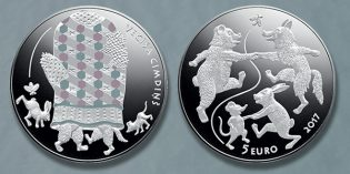 World Coins – Latvian Bank Issues Fairy Tale Coin III: The Old Man's Mitten