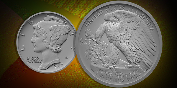 U.S. Mint mockup of 2017 Palladium coin design