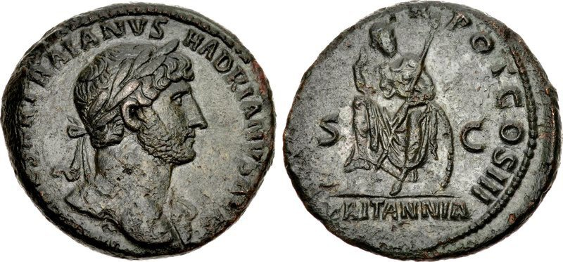 A copper as of Hadrian. Images courtesy CNG, NGC