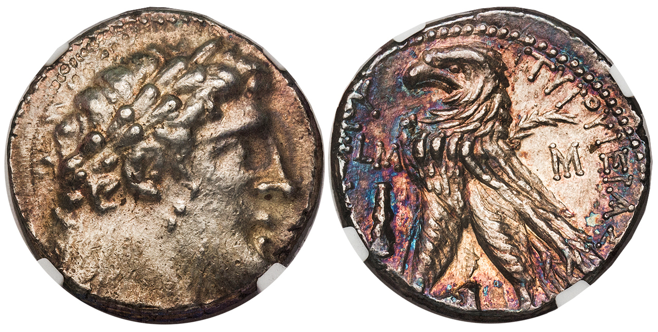 GREEK. PHOENICIA. Tyre. Struck Yr. 40 (87/6 BC). AR Tetradrachm (Shekel). Images courtesy Atlas Numismatics