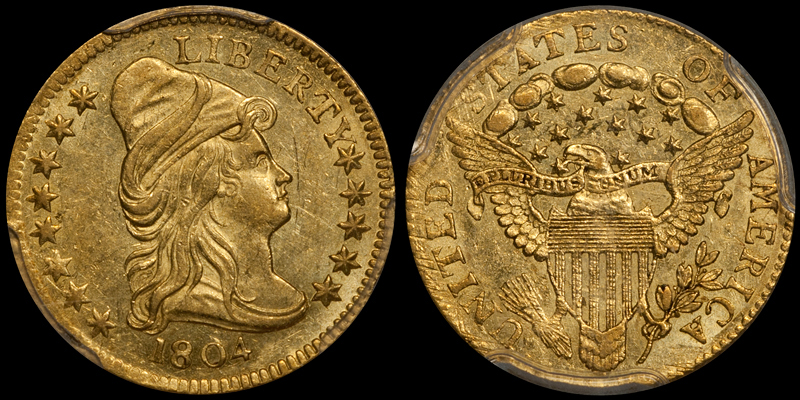 1804 14 STARS $2.50 PCGS MS62. Images courtesy Doug Winter