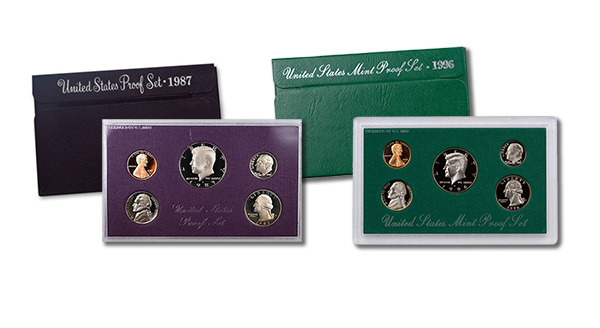 1987 and 1996 U.S. Proof Set