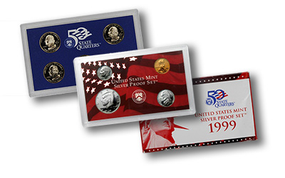 1999 U.S. Proof Sets in Silver and Clad Configurations