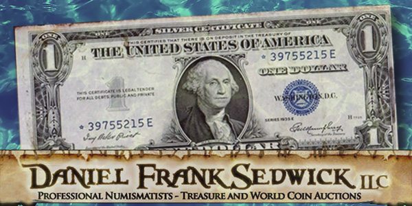 Daniel Frank Sedwick Auction 21: One Dollar Shipwreck Note