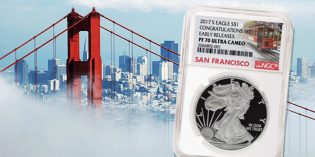 Special NGC San Francisco Trolley Label for 2017-S Proof Silver Eagle