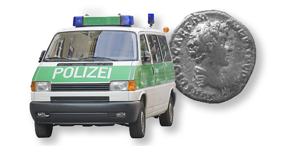 German Police Ancient Coin