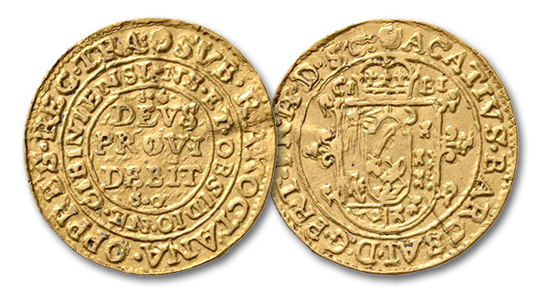 04 – 475. Transylvania. Achatius Barcsai (1659-1660). Ducat 1660, Hermannstadt (Sibiu), minted during the occupation by George Rákoczi. Extremely rare. Very fine. Estimate: 20,000 euros. Starting price: 12,000 euros