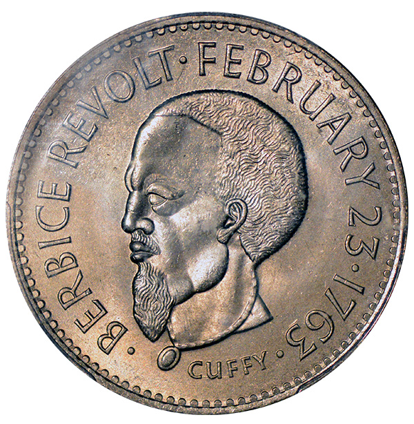 "1970 Guyana FAO One Dollar Coin ""Cuffy"""