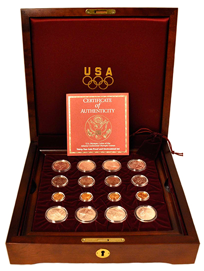 Olympics Commemorative Set in Wooden Box