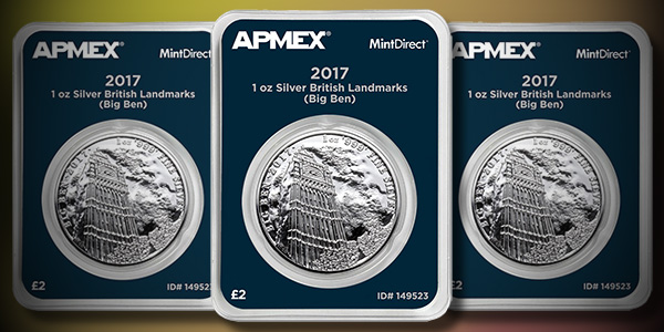 APMEX 2017 1 Ounce Landmarks of Britain Big Ben Silver Coin