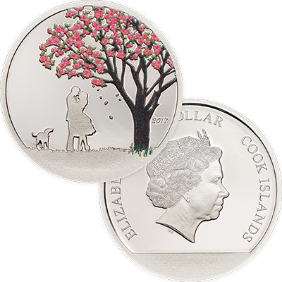 2017 Cook Islands Cherry Blossom Coin