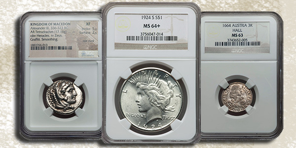 Jeff Garrett Diverse Coins in NGC Holders