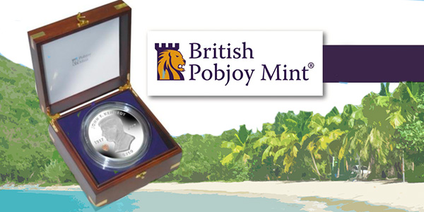 British Pobjoy Mint British Virgin Islands JFK 100 ounce silver coin