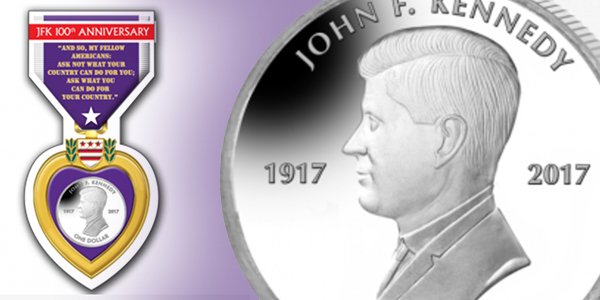 Purple Heart John F. Kennedy Pobjoy Mint