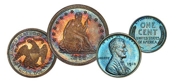 Legend Rare Coin Auctions Regency XXI Sale: 1868 Quarter and 1912 Cent