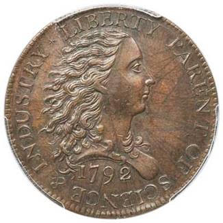 obverse, United States 1792 Birch Cent, ex Parmelee Collection. Image courtesy Heritage Auctions