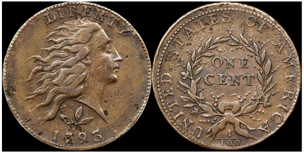 1793 S-5 Counterfeit, images courtesy NGC