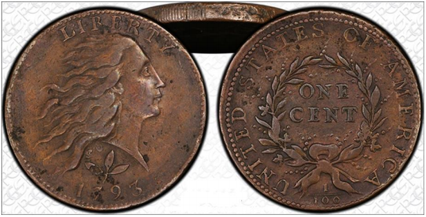 1793 S-5 Counterfeit, courtesy PCGS