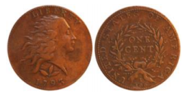 1793 S-5 Wreath Cent Counterfeit - 2015 Internet example. Image courtesy Jack Young, EAC