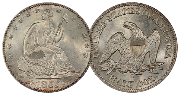 1855 with Arrows PCGS MS66