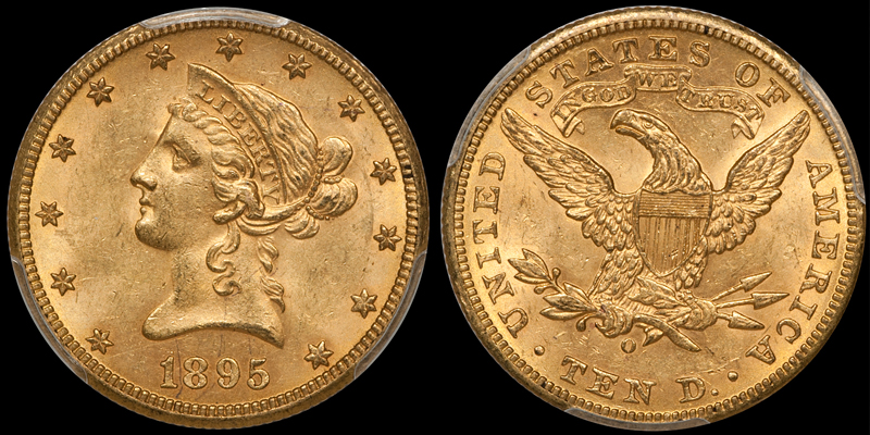 1895-O With Motto $10.00 Gold Eagle, PCGS MS63 CAC. Images courtesy Doug Winter