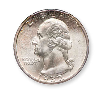 1932-D Washington Quarter MS64+ - Legend Auctions