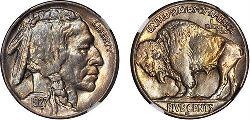 1927-S Buffalo Nickel. MS-63 (NGC). Images courtesy NGC