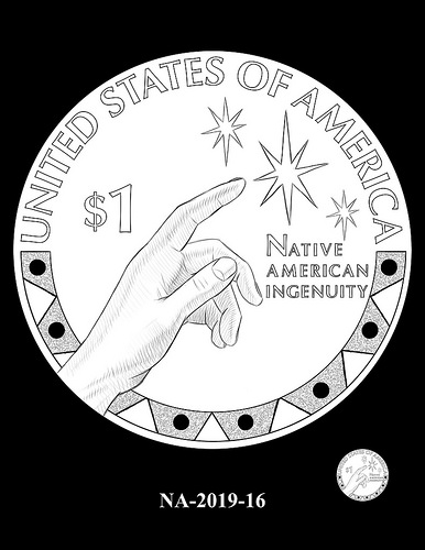 2019 Native American $1 coin design candidate. Image courtesy U.S. Mint