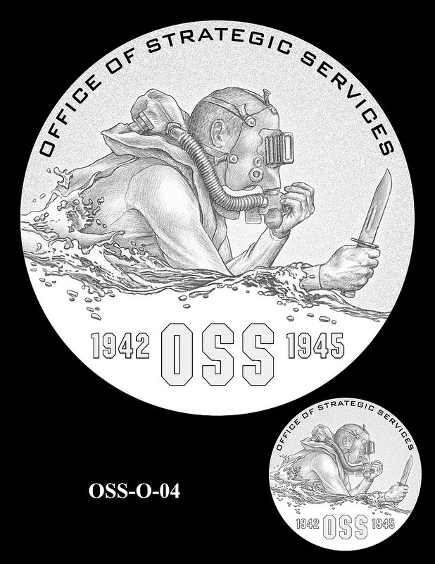 Office of Strategic Services Congressional Gold Medal design candidates. Image courtesy U.S. Mint