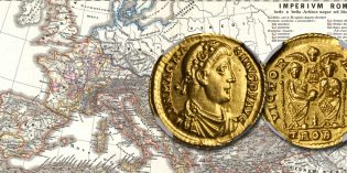 Stack's Bowers: Gold Solidus of Magnus Maximus at August ANA Auction