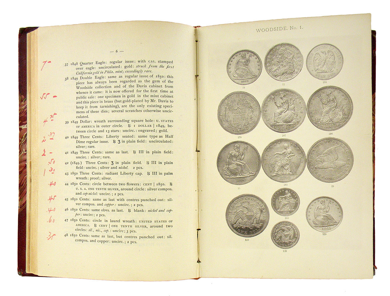 numismatic book auction - George Woodside collection catalogue, Edgar H. Adams library. Image courtesy Kolbe & Fanning