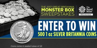 APMEX Announces 2017 Silver Britannia Monster Box Sweepstakes
