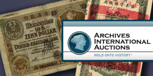 AIA U.S. & World Banknote, Scripophily Sale #42 Tomorrow, June 15