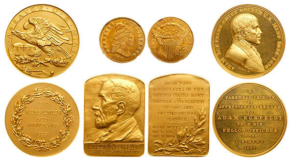 Eckfedlt Family Gold Coins and Medals - Goldberg Auctions
