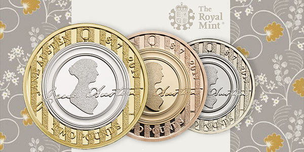 Jane Austen 2 Pounds - Royal Mint UK
