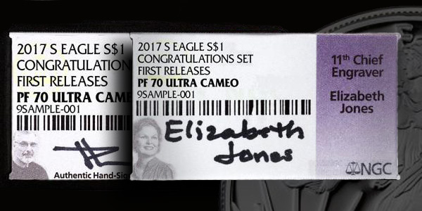 John Mercanti and Elizabeth Jones NGC Labels