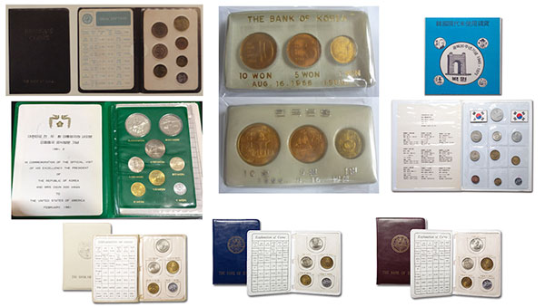 "A compilation of early ""unofficial"" South Korean Mint Sets"