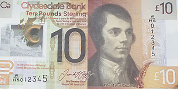 Clydesdale Bank Ten Pounds 2017