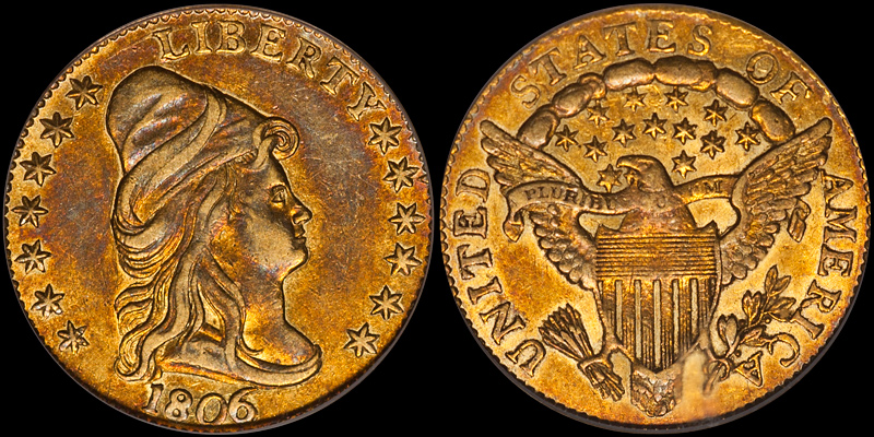 1806/5 7X6 STARS PCGS AU55 CAC. Images courtesy Doug Winter
