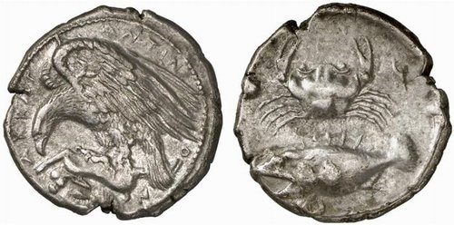 A tetradrachm from Acragas