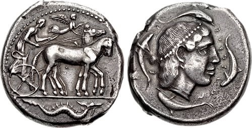 A tetradrachm from Syracuse