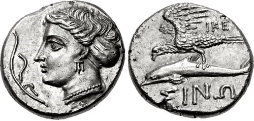 A didrachm from Sinope. Images courtesy Classical Numismatic Group, NGC