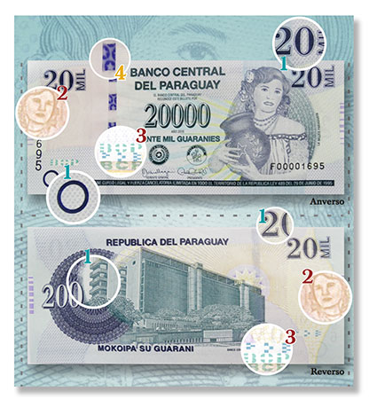 Paraguay 20 Mil note