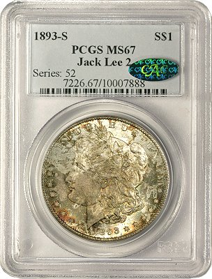 Vermuele 1893-S Morgan dollar PCGS MS67 ex Jack Lee