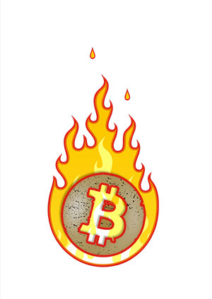 Bitcoin on fire
